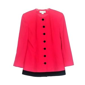 Christian Dior Wool Pink Button Up Blazer Like New